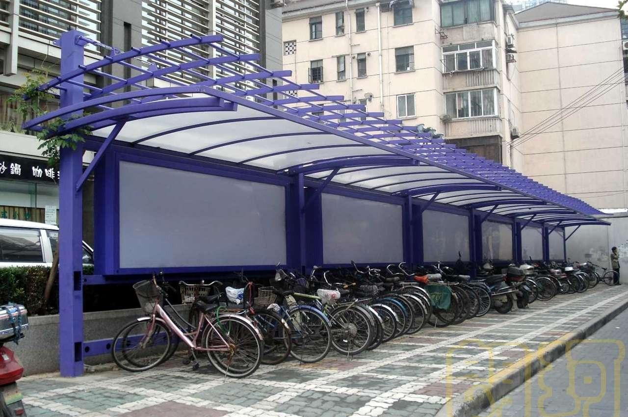 单车棚2 - 朗珂岗亭|上海不锈钢岗亭|钢结构岗亭|保安
